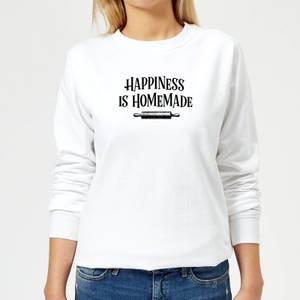 Happiness Is Homemade Women's Sweatshirt - White
