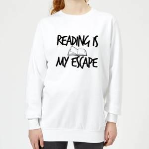 Reading Is My Escape Women's Sweatshirt - White