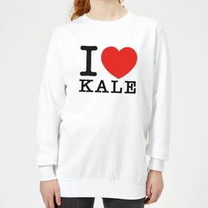 I Heart Kale Women's Sweatshirt - White
