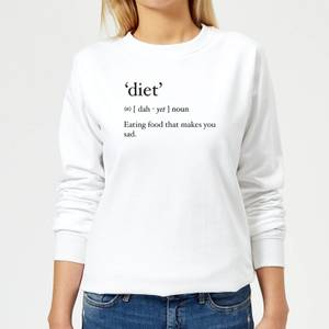Dictionary Diet Women's Sweatshirt - White