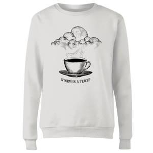 Storm In A Teacup Women's Sweatshirt - White