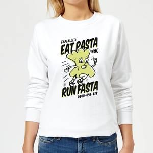 EAT PASTA RUN FASTA Women's Sweatshirt - White