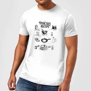 Pancake Recipe T-Shirt - White