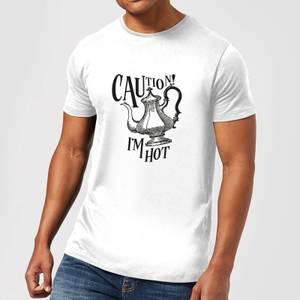 Caution! I'm Hot T-Shirt - White