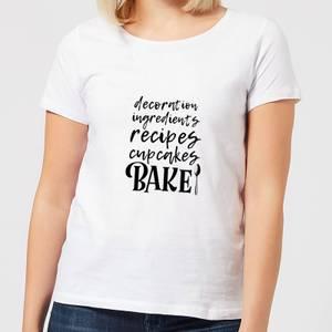 Baking Words Women's T-Shirt - White
