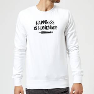 Happiness Is Homemade Sweatshirt - White