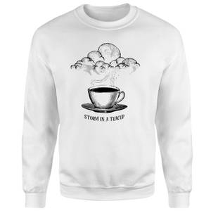 Storm In A Teacup Sweatshirt - White