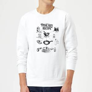 Pancake Recipe Sweatshirt - White