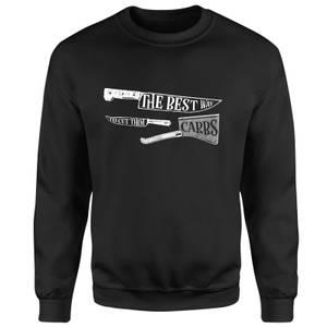 The Best Way To Cut Them Carbs Sweatshirt - Black