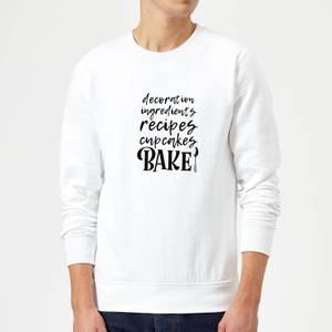 Baking Words Sweatshirt - White