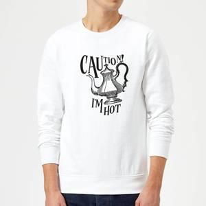 Caution! I'm Hot Sweatshirt - White
