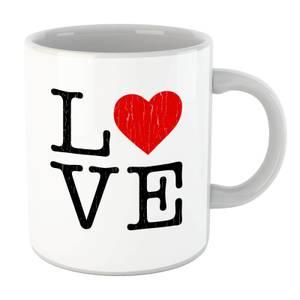 Love Heart Textured Mug