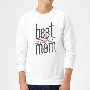 Best Foster Mom Sweatshirt - White