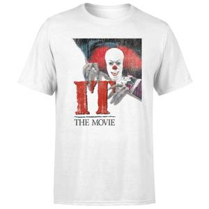 T-Shirt IT 1990 Pennywise Clown Movie Poster - Bianco