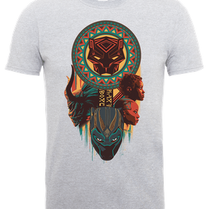 Black Panther Totem T-Shirt - Grey