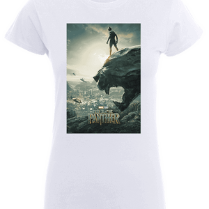 Black Panther Poster Women's T-Shirt - White