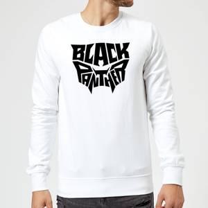 Sweat Homme Emblème Black Panther - Blanc