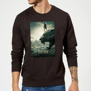 Black Panther Poster Sweatshirt - Black