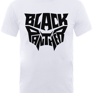 Black Panther Emblem T-Shirt - White