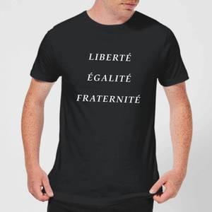 T-Shirt Homme Liberté Égalité Fraternité - Noir