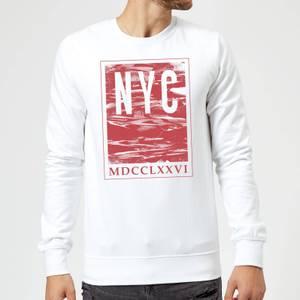 Sweat Homme NYC Roman - Blanc