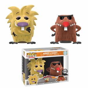 Nickelodeon Angry Beavers Norbers & Daggett Flocked EXC Pop! Vinyl Figure 2-Pack (VIP ONLY)