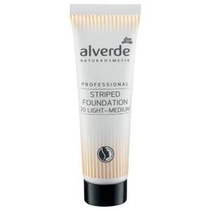 alverde NATURKOSMETIK - Professional Striped Foundation Medium-Light
