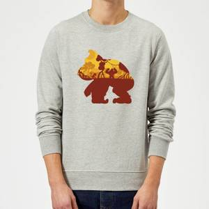 Sweat Homme Silhouette Donkey Kong Mangrove - Gris