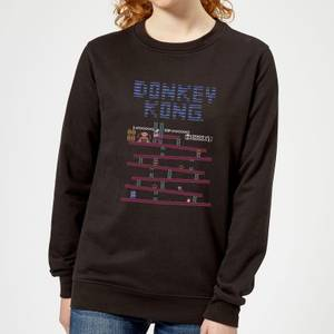 Nintendo Donkey Kong Retro Women's Sweatshirt - Black