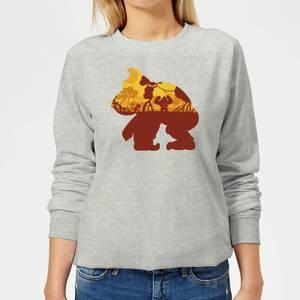 Nintendo Donkey Kong Silhouette Mangrove Women's Sweatshirt - Grey