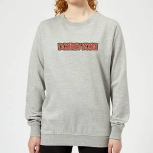 Nintendo Donkey Kong Distressed Women's Sweatshirt - Grey