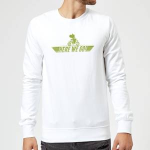 Sweat Homme Mario Kart Yoshi Here We Go - Nintendo - Blanc