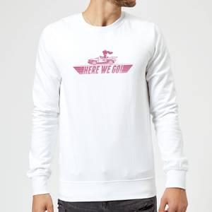 Nintendo Mario Kart Here We Go Peach Sweatshirt - White