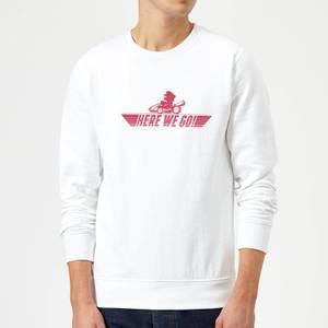 Nintendo Mario Kart Here We Go Mario Sweatshirt - White