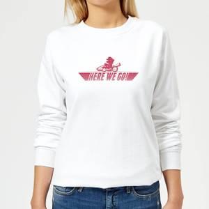 Nintendo Mario Kart Here We Go Mario Women's Sweatshirt - White