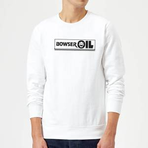 Nintendo Super Mario Bowser Oil Sweatshirt - White