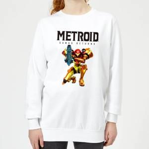 Felpa Nintendo Metroid Samus Returns - Bianco - Donna
