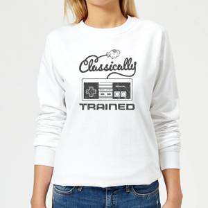 Nintendo Retro NES Classically Trained Women's Sweatshirt - White