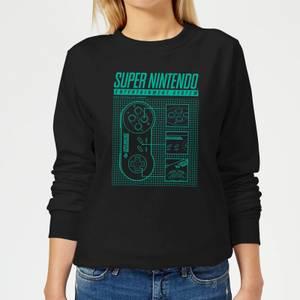 Nintendo Super Nintendo Entertainment System Women's Sweatshirt - Black