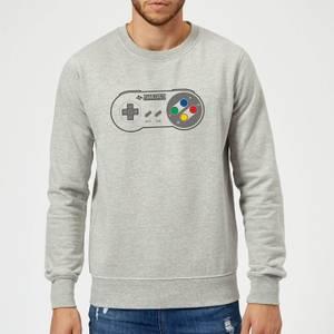 Nintendo SNES Controller Pad Sweatshirt - Grey