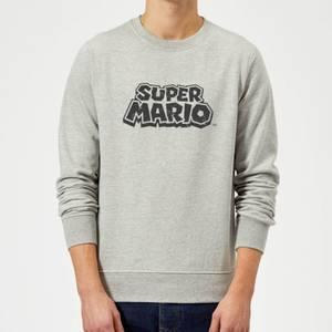 Nintendo Super Mario Distressed Logo Sweatshirt - Grey