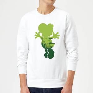 Nintendo Super Mario Yoshi Silhouette Sweatshirt - White