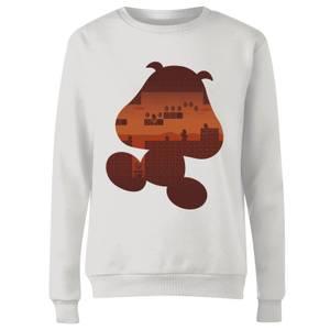 Sudadera Nintendo Super Mario Goomba - Mujer - Blanco