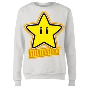 Nintendo Super Mario Invincible Damen Pullover - Weiß