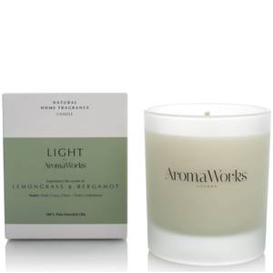 AromaWorks Light Range Candle - Lemongrass and Bergamot 30cl