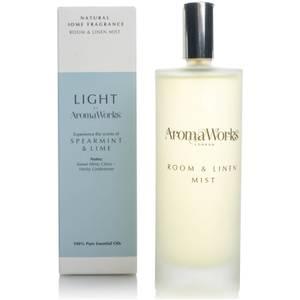 AromaWorks Light Range Room Mist mgiełka zapachowa – Spearmint and Lime