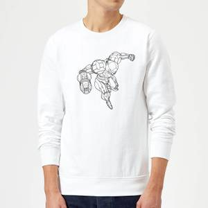 Felpa Nintendo Super Metroid Samus - Bianco