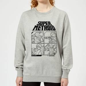 Nintendo Super Metroid Instructional Panel Women's Sweatshirt - Grey