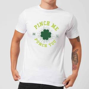 T-Shirt Homme Pinch Me And Ill Punch You - Blanc