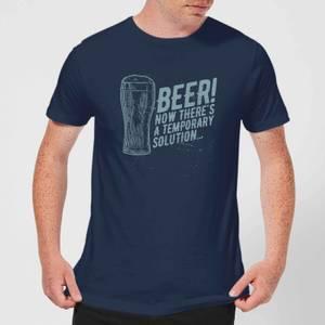T-Shirt Homme Beer Temporary Solution - Bleu Marine